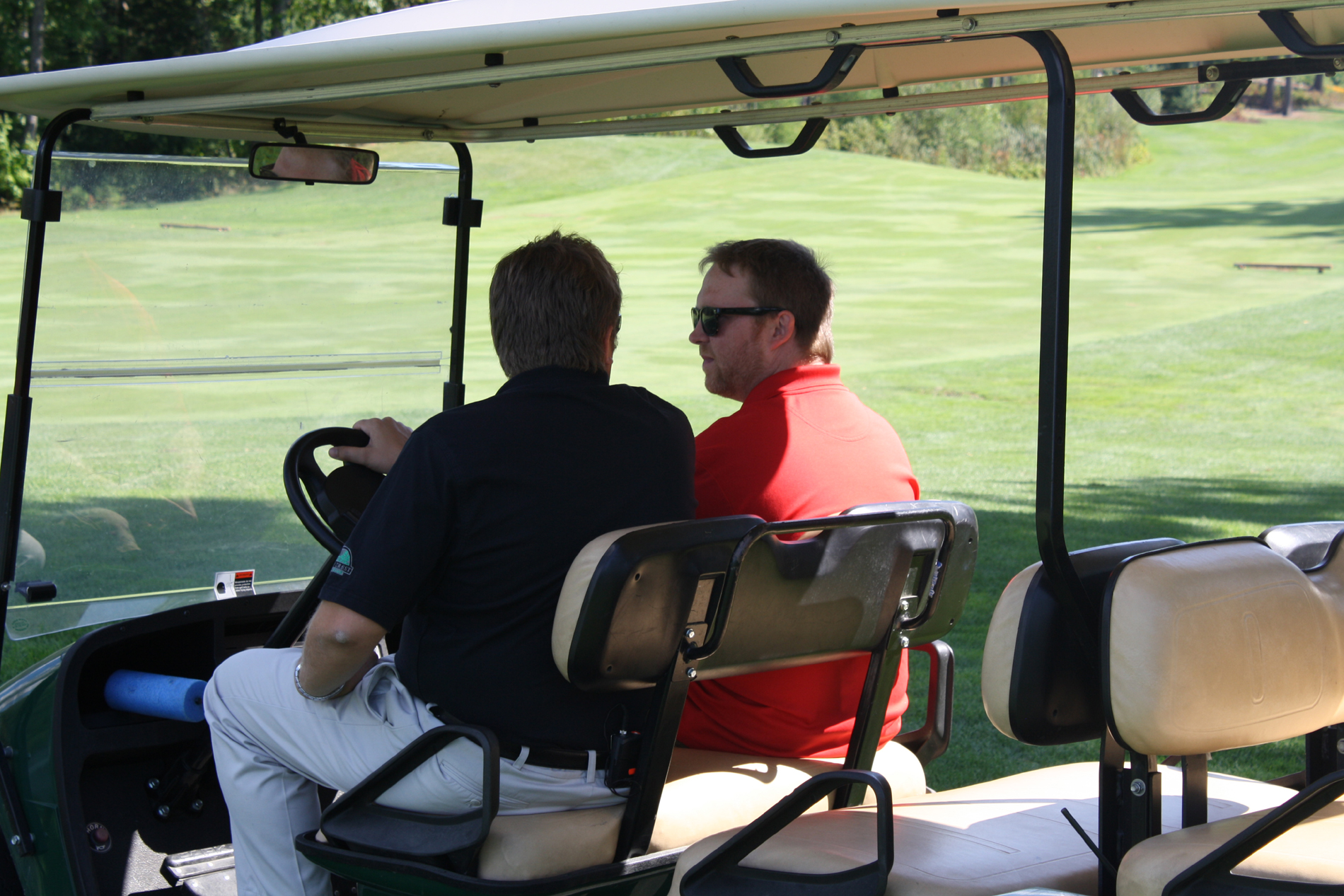 jerry and tyler in the cart resized