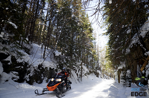 Snowmobiling in Explorers' Edge