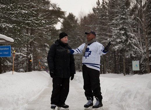 Kevin Yarde at the Ice Trail