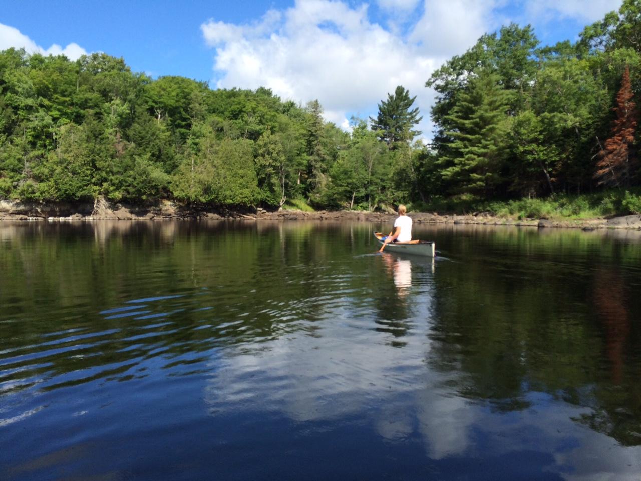 Rory paddling