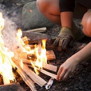 fall camp fire