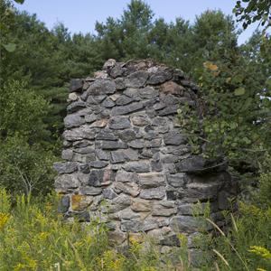 Rock Foundation on Trail