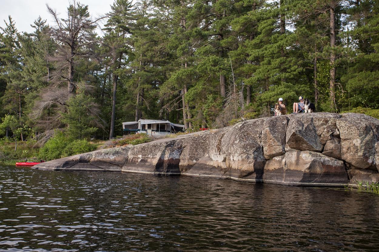 campsite water's edge