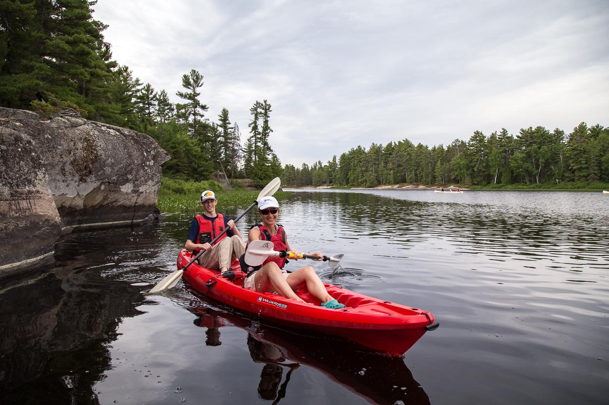 paddling at grundy