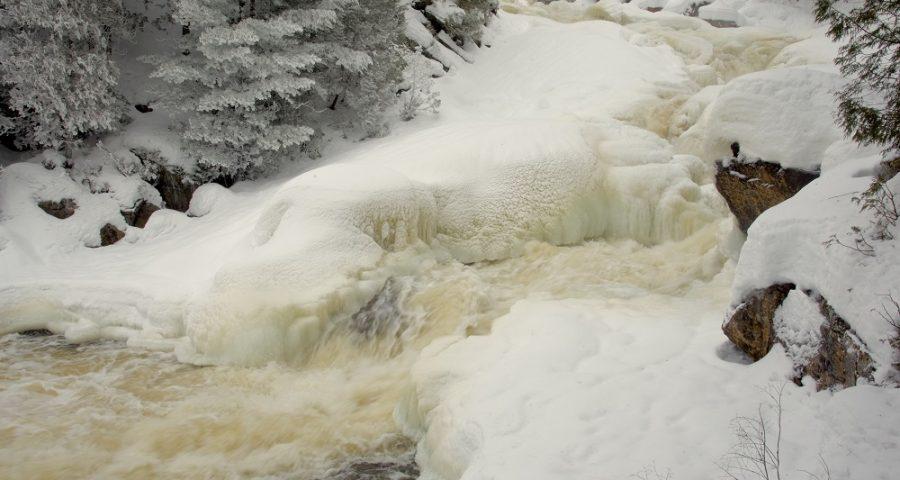 Ragged Falls In Winter Robin Tapley Photo