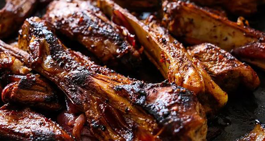 Maple Barbecued Spareribs