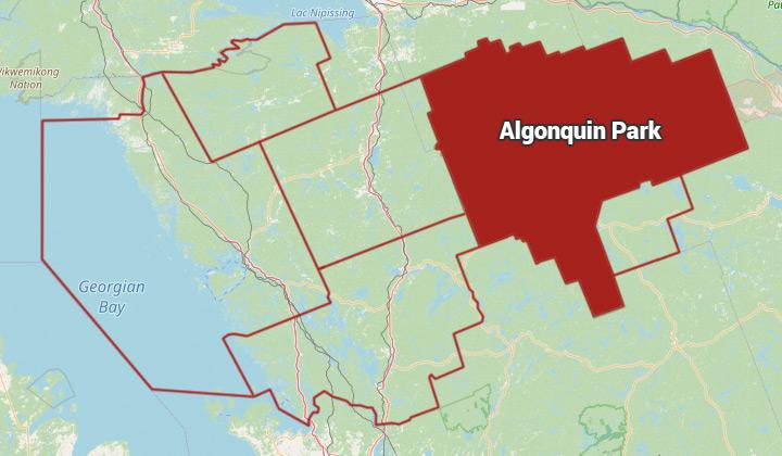 Map of Algonquin Park