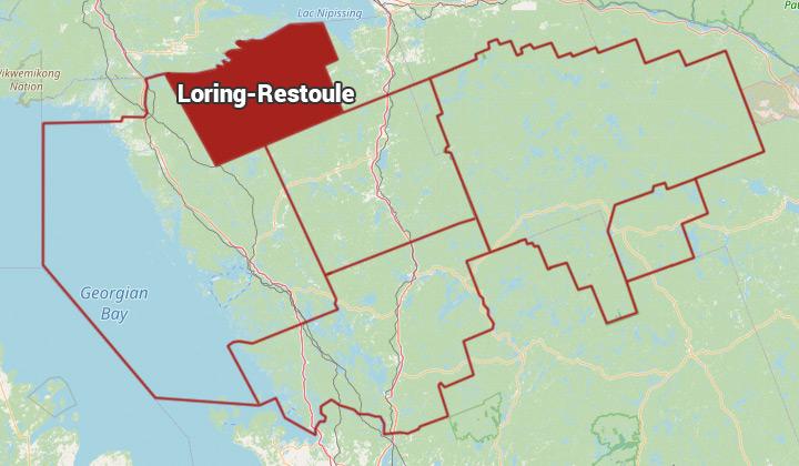 Map of Loring-Restoule