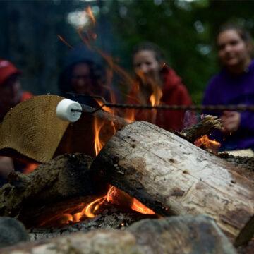 Kids at a campfire