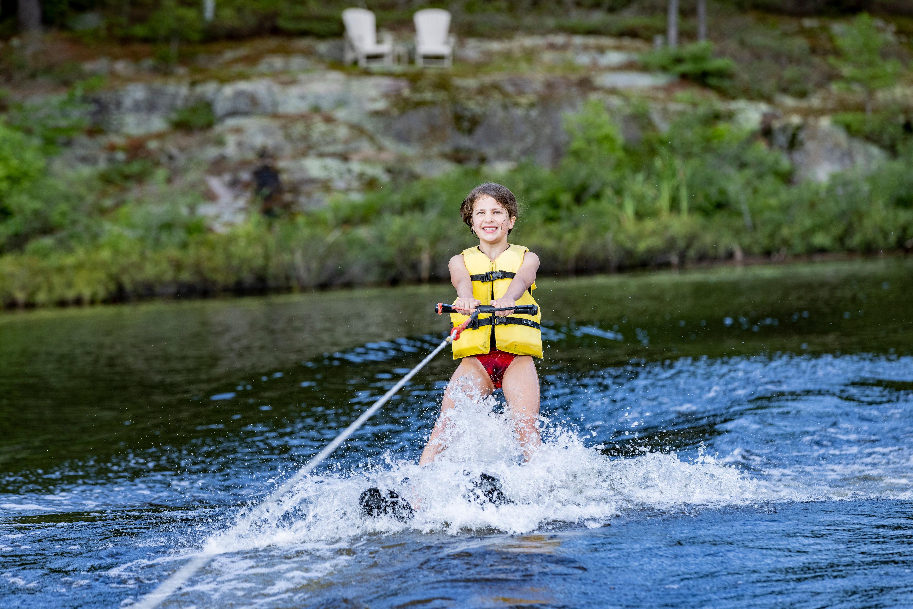 Girl Waterskiing
